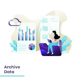 Modelo de dados de arquivamento