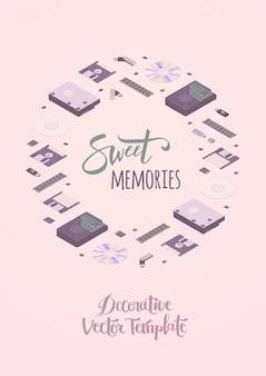 Modelo de decoração de memórias doces