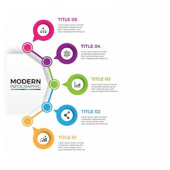 Modelo de design abstrato infográfico