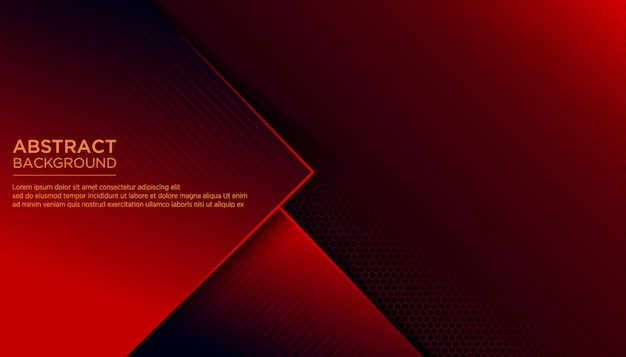Modelo de design abstrato vermelho escuro