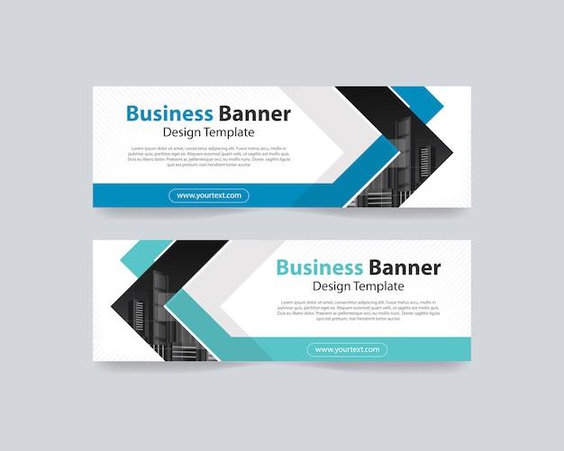 Modelo de design abstrato web banner