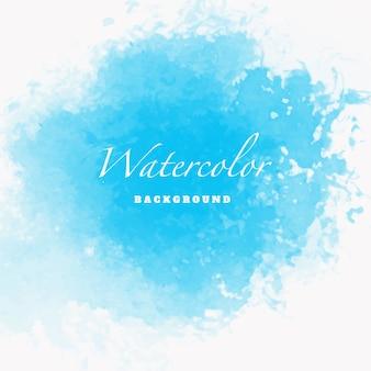 Modelo de design azul aquarela