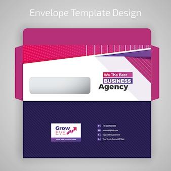 Modelo de design colorido de envelope
