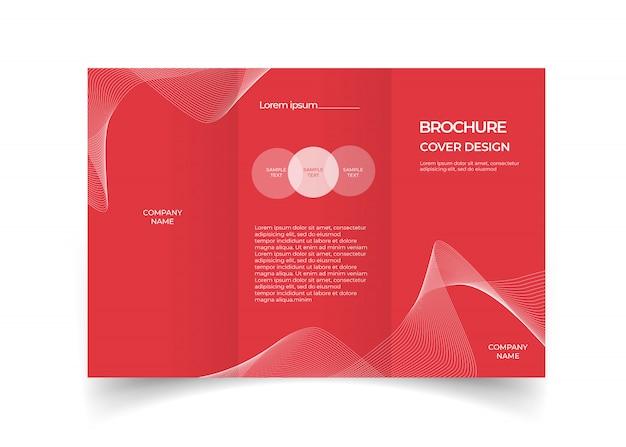 Modelo de design com três dobras brochura