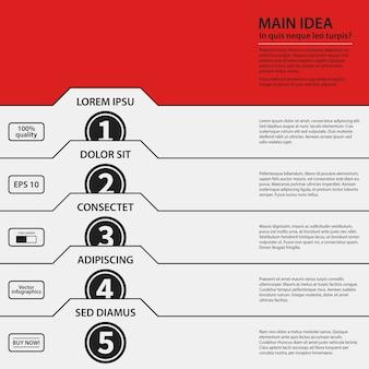 Modelo de design corporativo em fundo vermelho. cores em preto e branco. útil para publicidade, apresentações e web design.