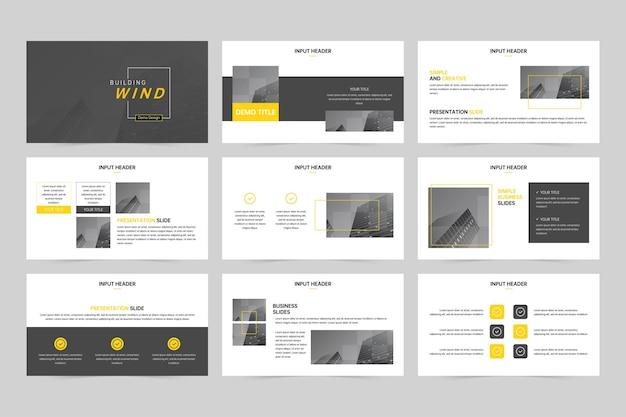 Modelo de design criativo de apresentação minimalista e minimalista