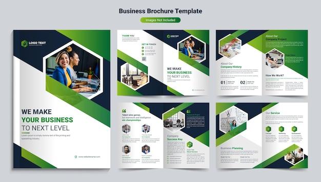 Modelo de design criativo de brochura comercial