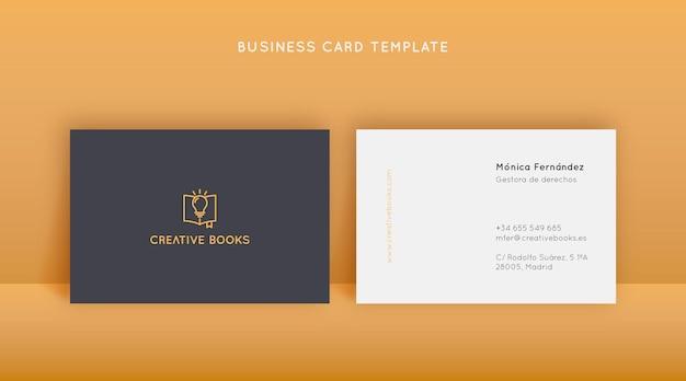 Modelo de design criativo de cartão de visita em estilo linear e minimalista