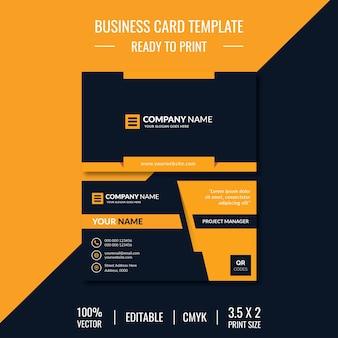Modelo de design criativo de cartão de visita
