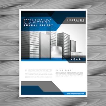 Modelo de design da brochura da empresa azul
