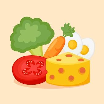 Modelo de design de alimentos orgânicos frescos