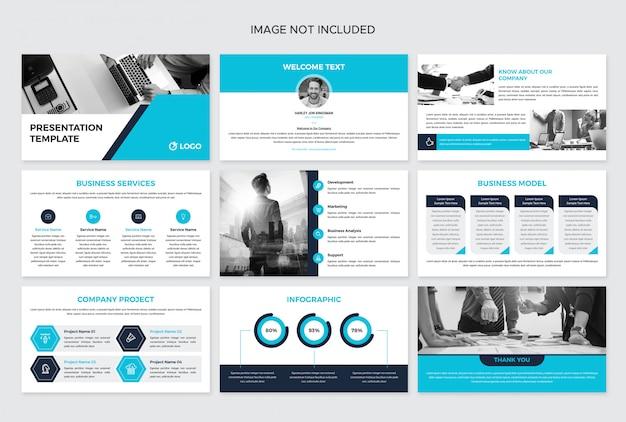 Modelo de design de apresentação de livreto de negócios
