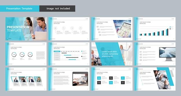 Modelo de design de apresentação de negócios