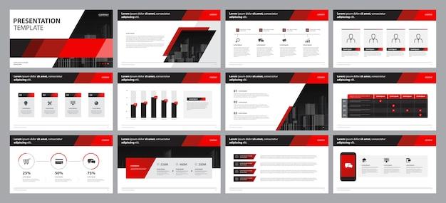 Modelo de design de apresentação e design de layout de página para folheto, livro, relatório anual
