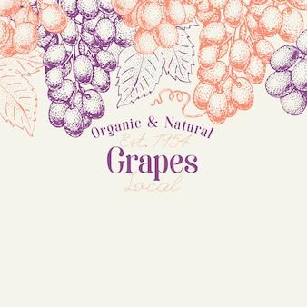 Modelo de design de bagas de uva.