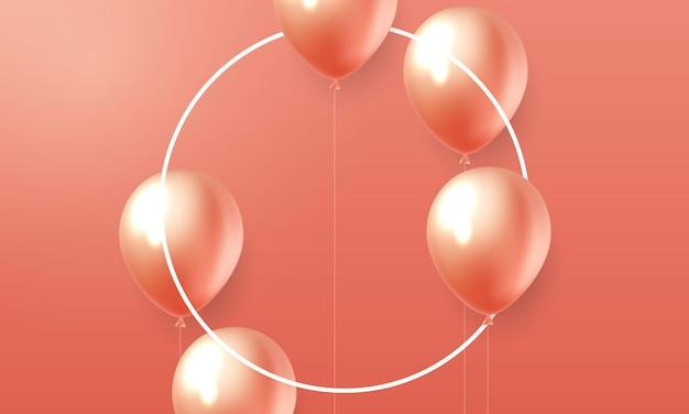 Modelo de design de balões laranja