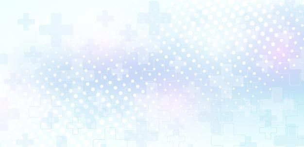 Modelo de design de bandeira azul de saúde médica e científica abstrata. conceito de medicina de cuidados de saúde. bandeira de tecnologia farmacêutica de inovação médica. fluxo de ondas. ilustração vetorial.