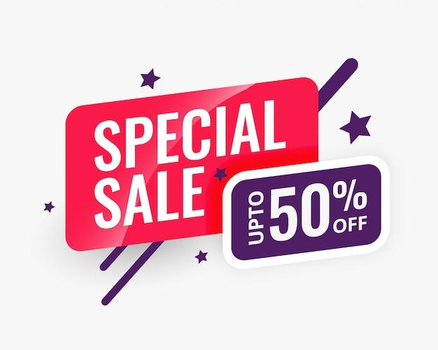 Modelo de design de banner abstrato de venda especial