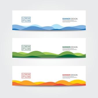 Modelo de design de banner abstrato. web banner design vector.