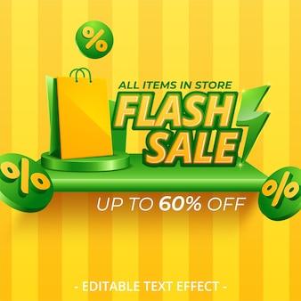 Modelo de design de banner brilhante de venda em flash