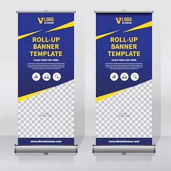 Modelo de design de banner criativo roll up