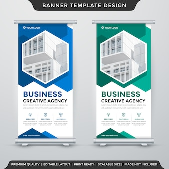 Modelo de design de banner cumulativo
