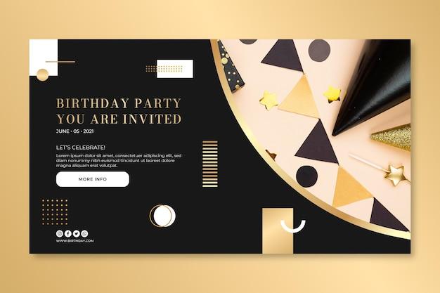 Modelo de design de banner de aniversário