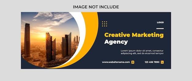 Modelo de design de banner de capa do facebook para agência de marketing digital