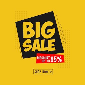 Modelo de design de banner de grande venda