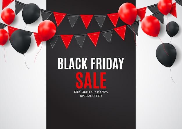 Modelo de design de banner de inscrição de venda de sexta-feira negra.