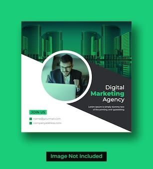 Modelo de design de banner de mídia social de marketing digital