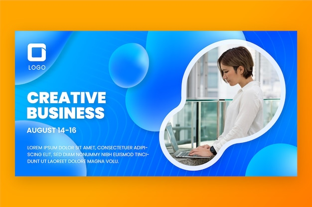 Modelo de design de banner de negócios gradiente