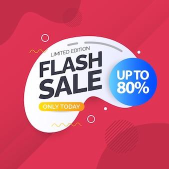 Modelo de design de banner de oferta especial de venda flash