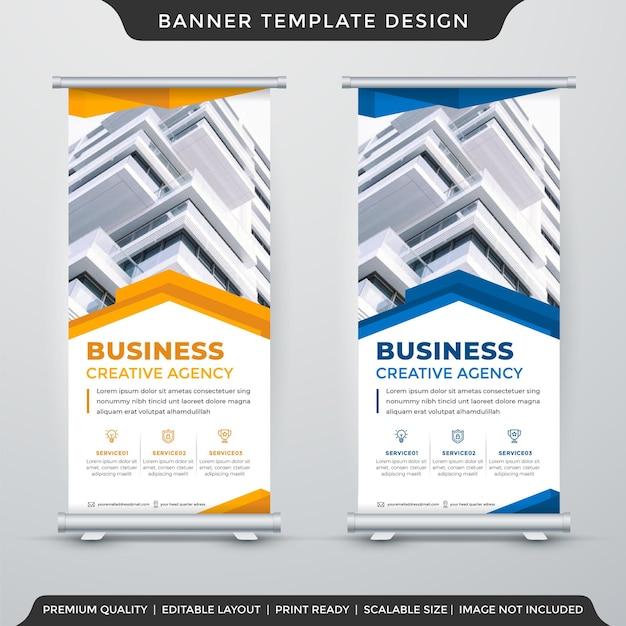Modelo de design de banner de suporte com estilo moderno