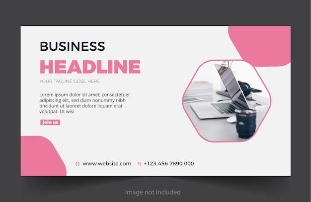 Modelo de design de banner de venda de negócios