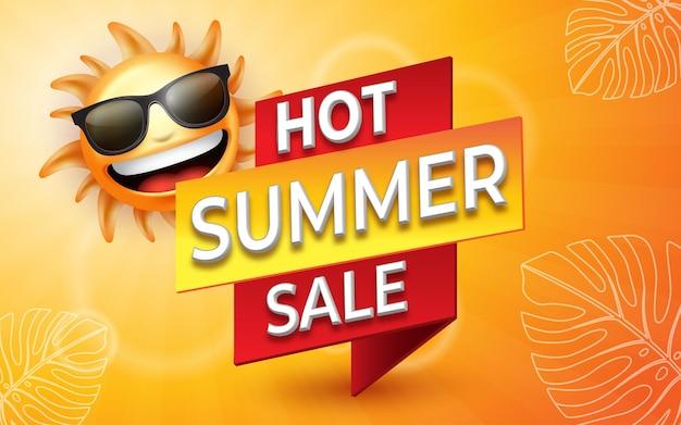 Modelo de design de banner de venda de verão para promoção