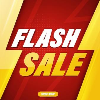 Modelo de design de banner de venda em flash para web ou mídia social.