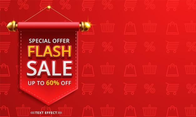 Modelo de design de banner de venda em flash