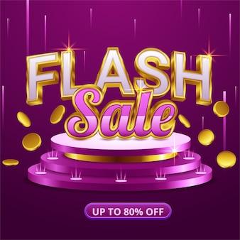 Modelo de design de banner de venda flash