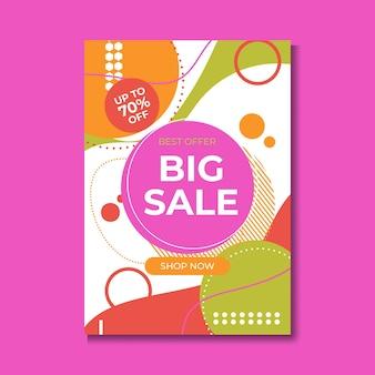 Modelo de design de banner de venda, grande venda especial com até 80% de desconto. super sale, banner com oferta especial de fim de temporada. ilustração vetorial.