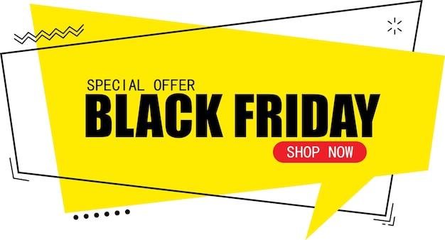 Modelo de design de banner de venda na sexta-feira negra