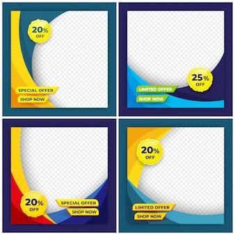 Modelo de design de banner de venda simples.