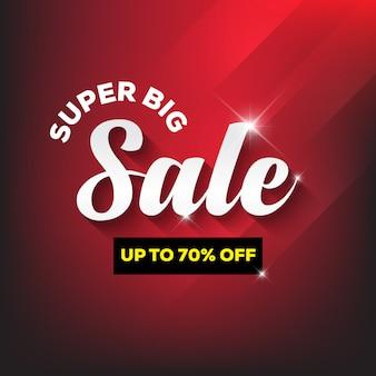 Modelo de design de banner de venda super grande