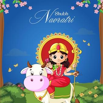 Modelo de design de banner do festival indiano shubh navratri
