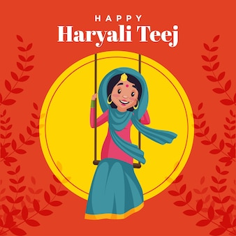 Modelo de design de banner do happy haryali teej festival