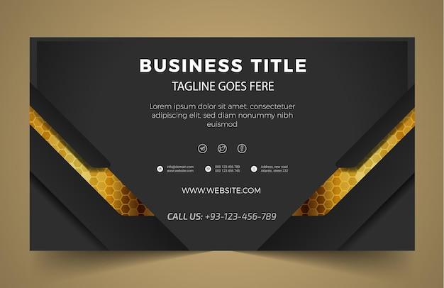 Modelo de design de banner empresarial moderno