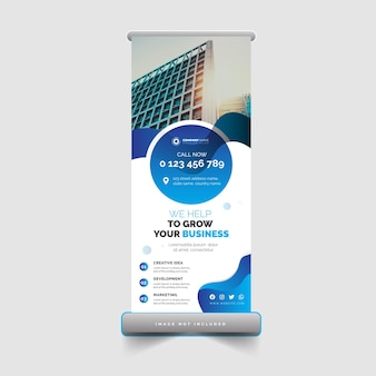 Modelo de design de banner enrolável corporativo e empresarial