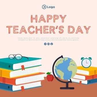 Modelo de design de banner feliz dia dos professores