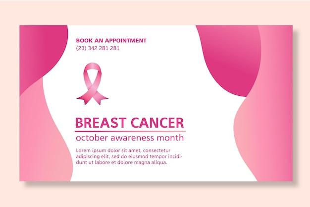 Modelo de design de banner para câncer de mama