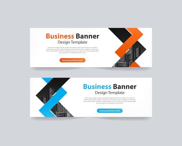 Modelo de design de banner web abstrato